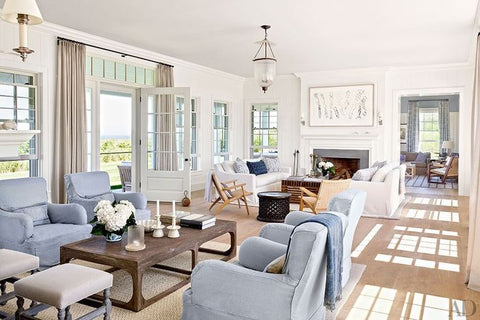 A Hamptons Living Room Rustic Charm Interiors