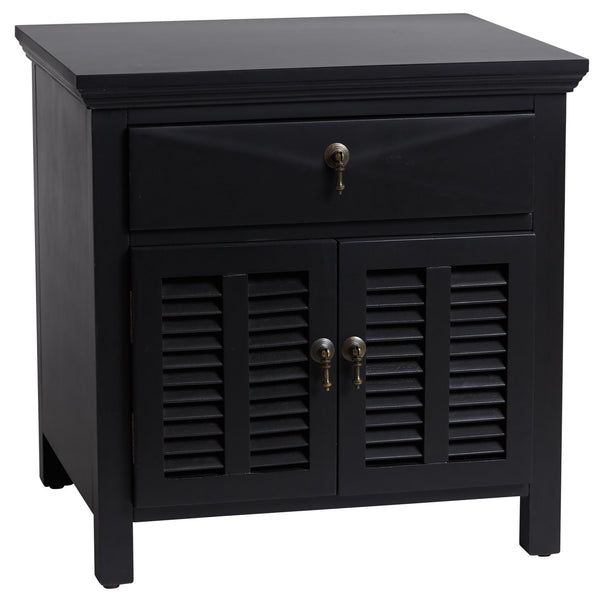 Louvre Bedside Table Black