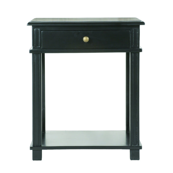 Montauk Bedside Table in Black