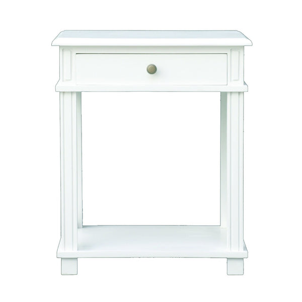 Montauk Bedside Table in White