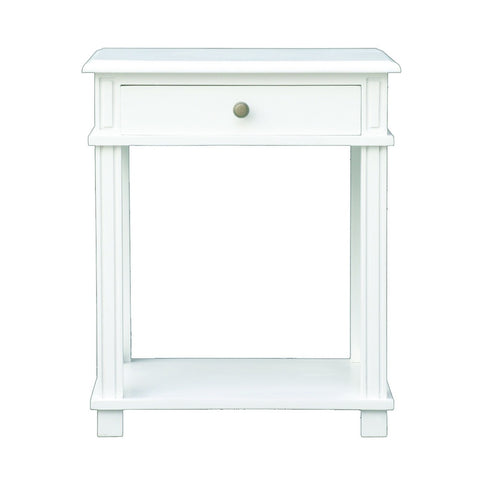 Montauk Bedside Table White