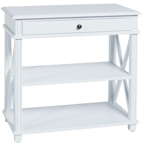 Montauk Bedside Table Large in White