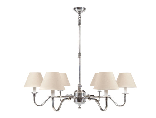 Andie Chandelier- Antique Silver & Ivory