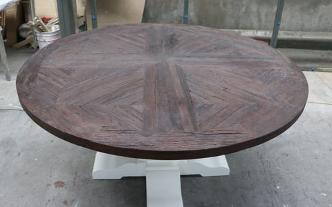 Nantucket Dining table - Weathered Oak finish 1