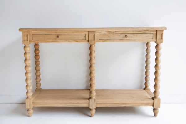 Barley Twist Console- Two Drawers