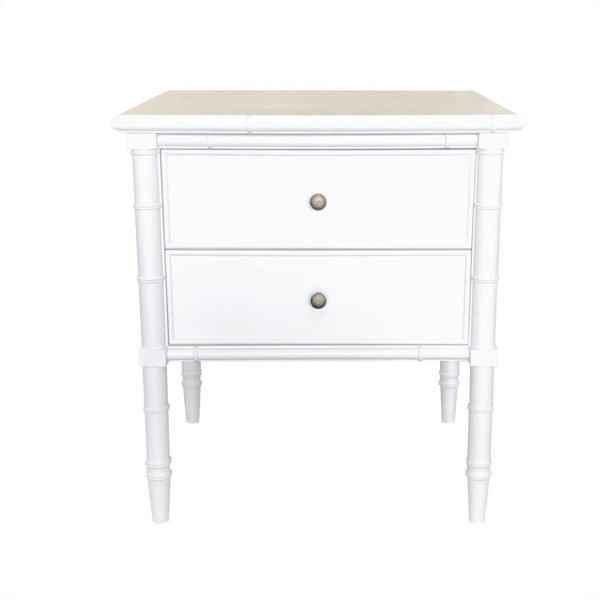 Amalie Bedside Table - White