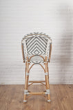 French Bistro Stool - Natural - Chevron in Grey