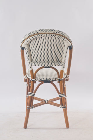 Back profile of French Bistro Chair in Polka Dot