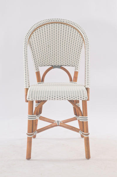French Bistro Chair - Walnut - Polka Dot in Grey
