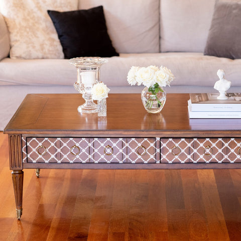 Louis French style wood coffee table