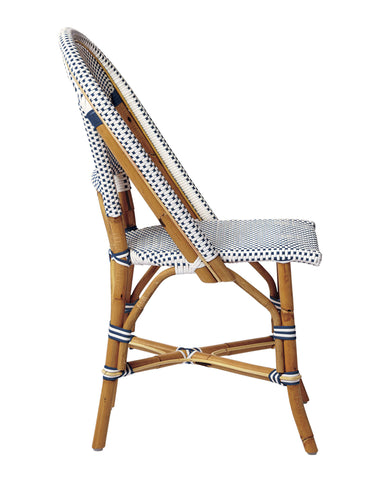 French Bistro Chair - Natural - Polka Dot in Navy