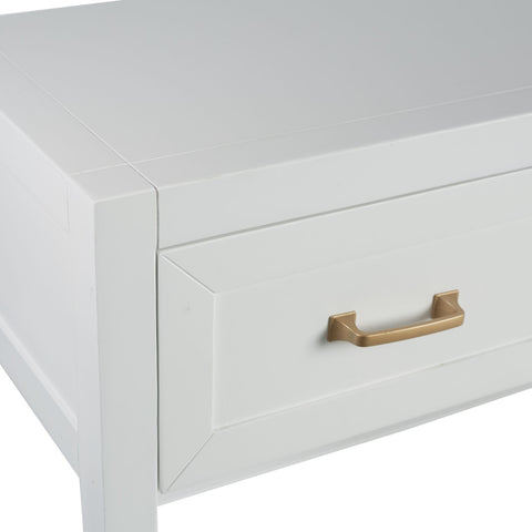 Cabot Bedside Table in White