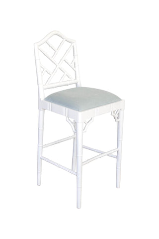 Chippendale Stool in White
