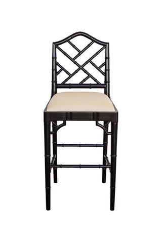 Chippendale Stool in Black