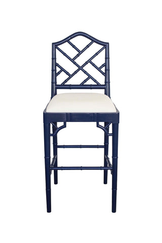 Chippendale Stool in Navy