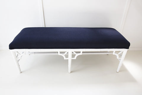 Chippendale Bench in White