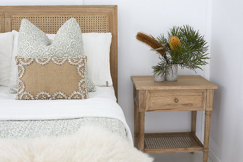 Coralie Bedside in Natural