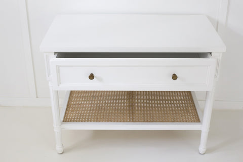 Coralie Nightstand in White