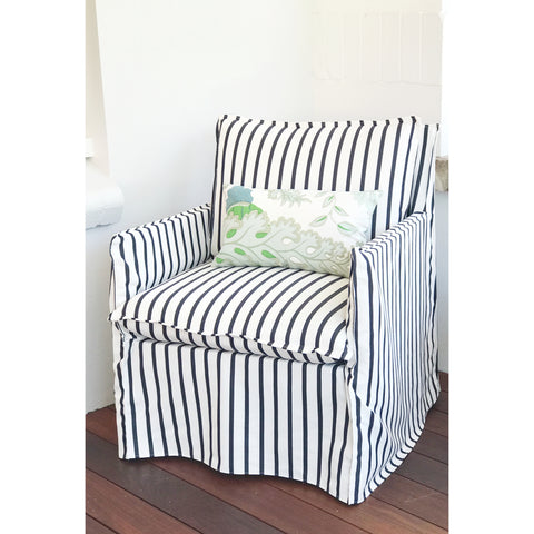 Harbour slip-cover armchair