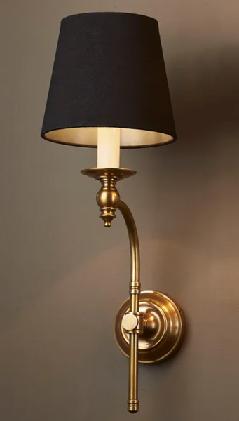 London Wall Sconce in Antique Brass