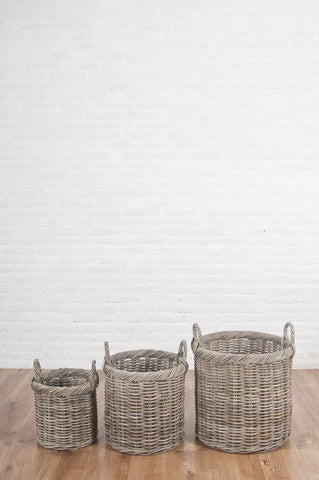 Tall Round Rattan Basket