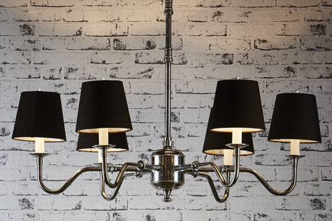 Andie Chandelier- Antique Silver & Black