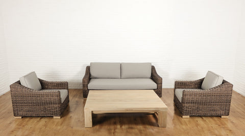 Hamptons, French Provincial Outdoor lounge set - Brown