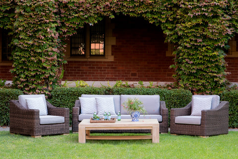 Provence Outdoor Lounge Set - Weathered Grey