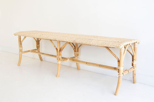 Backless Riviera Bench in Natural
