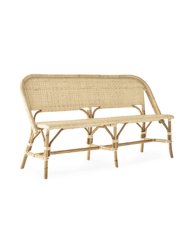 Bistro style bench in natural