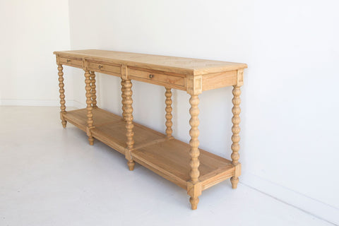 Barley Twist Console- Three Drawers