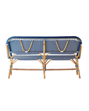 Back profile of Café style Bench in Navy & White