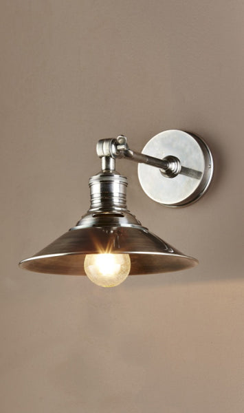 Nantucket Wall Light- Antique Silver