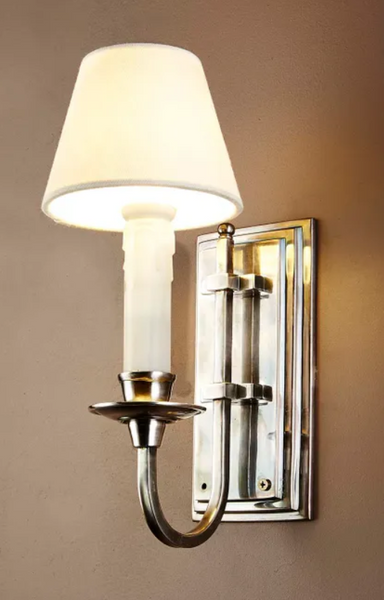 Claire Wall Sconce in Antique Silver