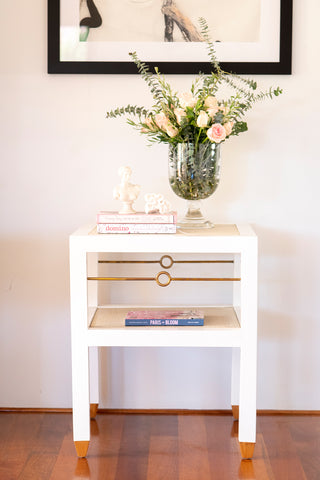 St Barts Side table - white painted timber