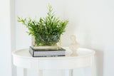 small round white side table