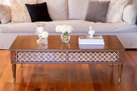 Louis French style rectangle coffee table