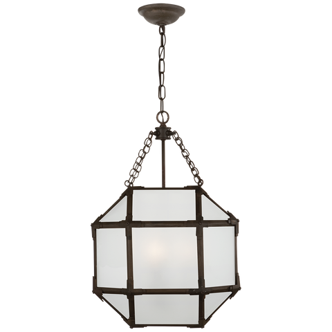 Morris Pendant with Frosted Glass