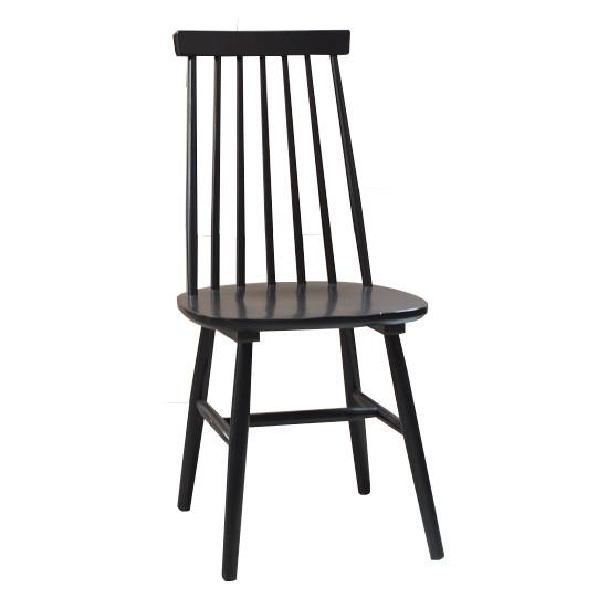 Farmhouse Dining Chair in Black