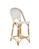 French Bistro Stool - Walnut - White