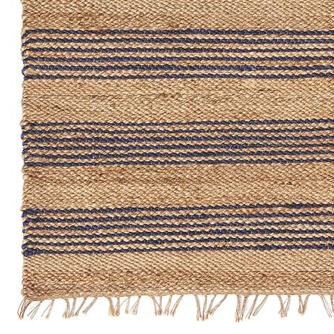 Navy Multi- Stripe Jute Rug
