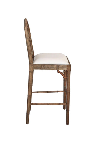 Chippendale Stool in Weathered Oak