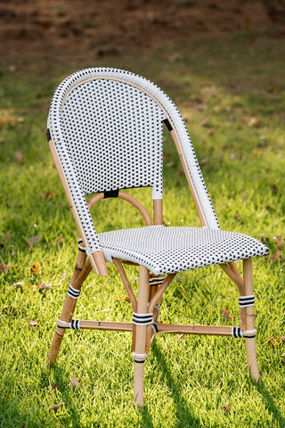 French Bistro Chair - Natural - Polka Dot in Black
