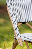 French Bistro Stool - Natural - Polka Dot in Black
