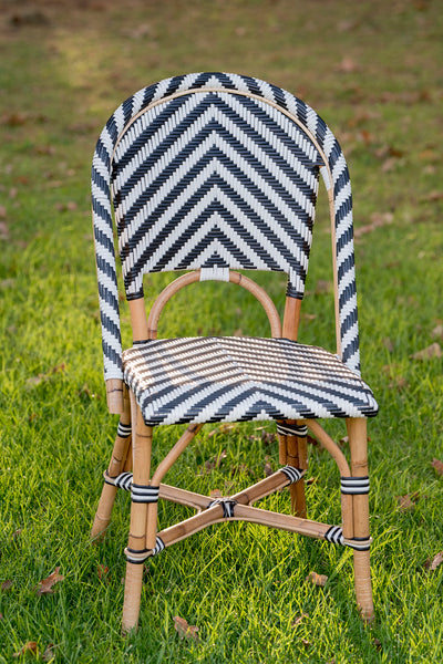 Bistro Chair - Chevron in Black