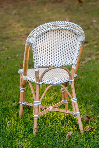 French Bistro Chair - Natural - Polka Dot in Grey
