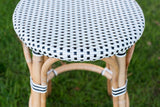 French Bistro Backless Stool - Polka Dot in Black
