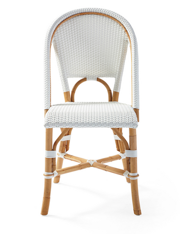French Bistro Chair - Walnut - White