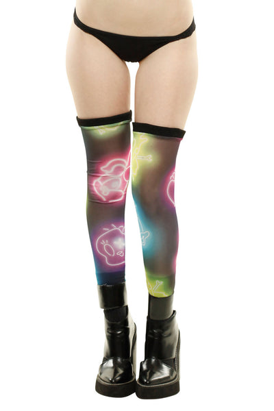Neon Lights Footless Thigh Highs