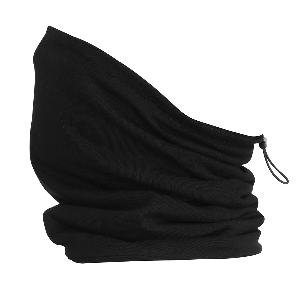 Organic Cotton Plush Snood Black